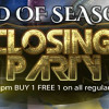 End of season closing party!!!
