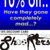 10% discount card at Shooter Guesthouse , Sport & Coyote Bar