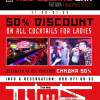 50% Discount on All Cocktail for Ladies
