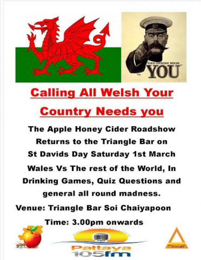 Apple Honey Cider Roadshow @ Triangle Bar – Saturday 1st March 2014