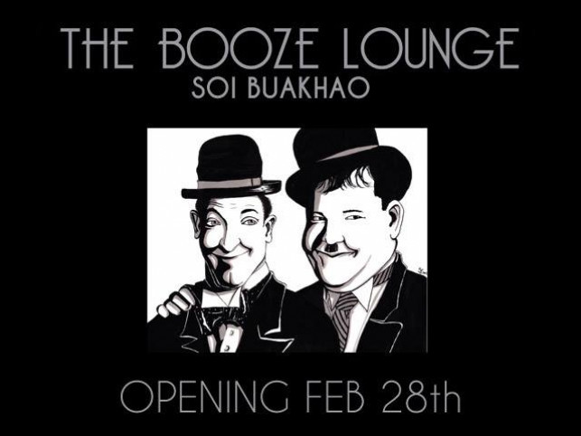THE BOOZE LOUNGE SOI BUAKHAO OPENING FEB 28th