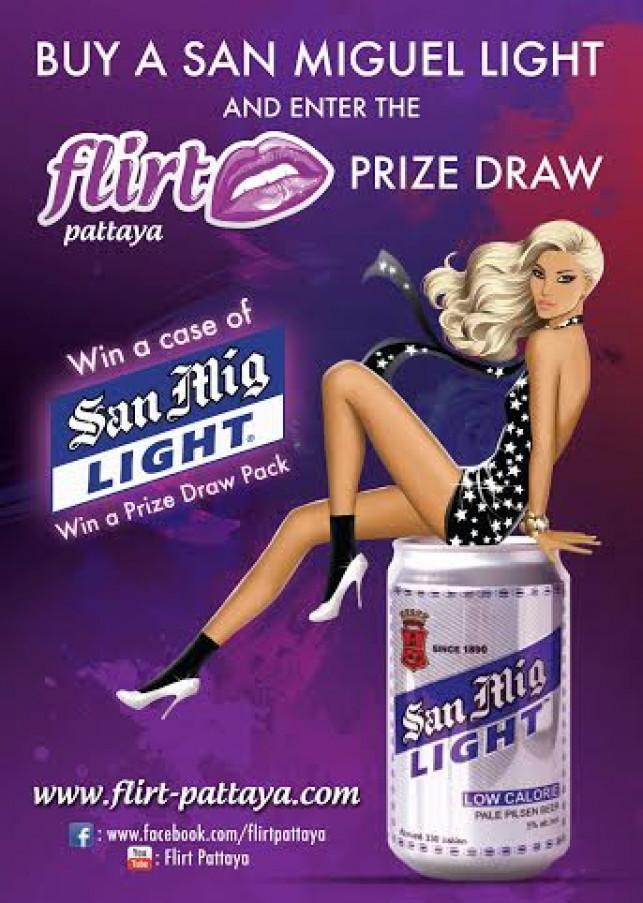 Flirt Pattaya/San Miguel free prize draw