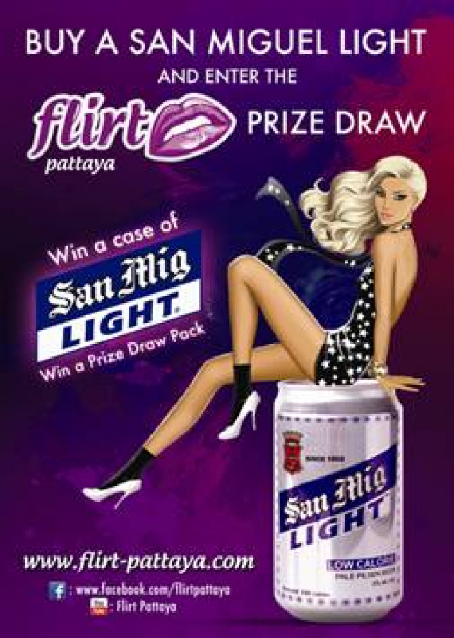 You are the lucky winner of the official San Miguel Light Flirt Pattaya Prize Draw.