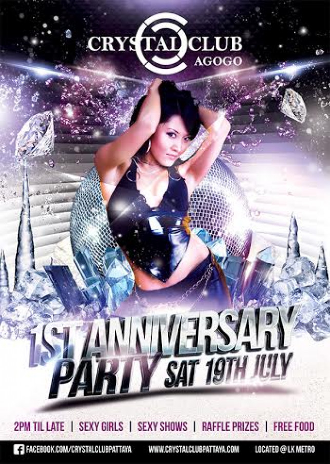 1st year Anniversary Party at Crystal Club.