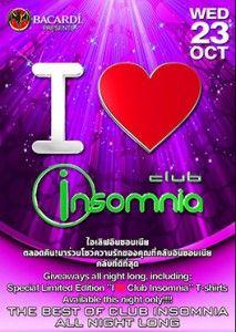 I love Insomnia Party October 23rd