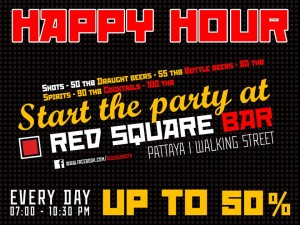 Red Square Happy Hour