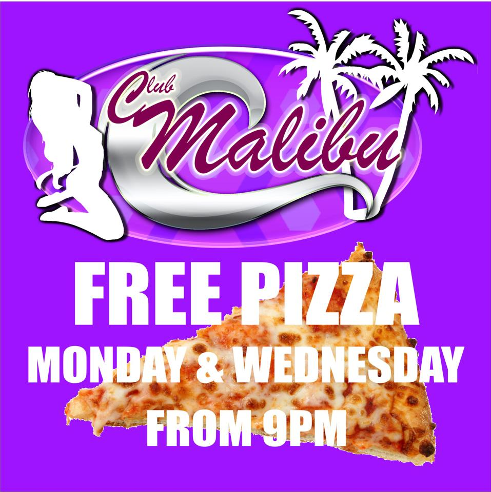 Malibu Nights Concert: Free Pizza Monday & Wednesday At Club Malibu Agogo